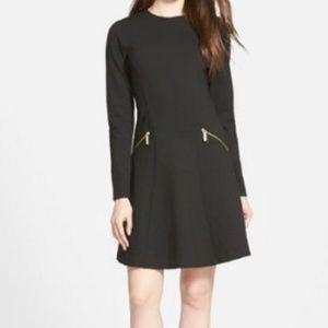 MICHAEL Michael Kors Black Fit & Flare Dress